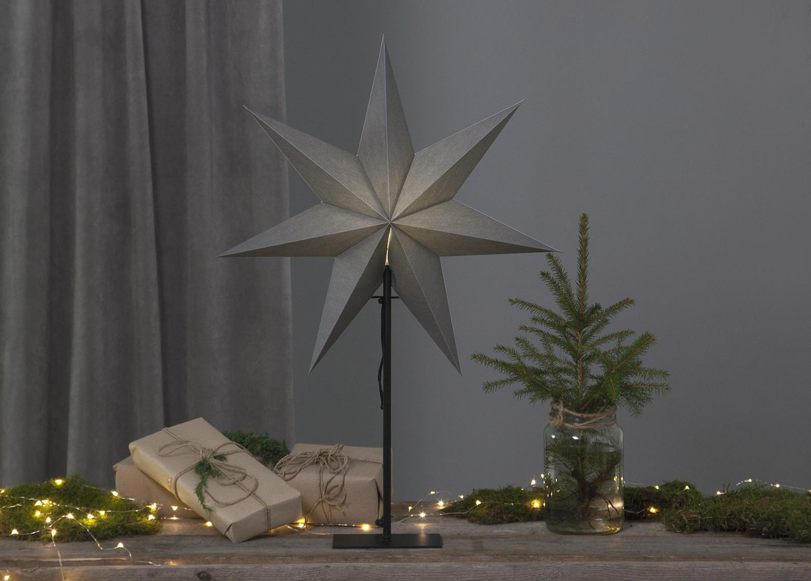 Tähti OZEN metallijalalla 75 cm