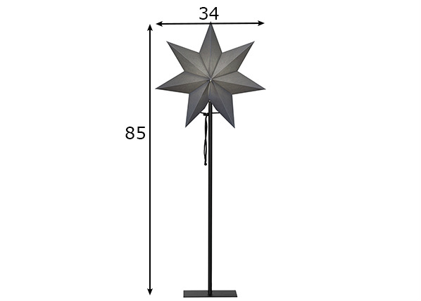 Tähti OZEN metallijalalla 85 cm