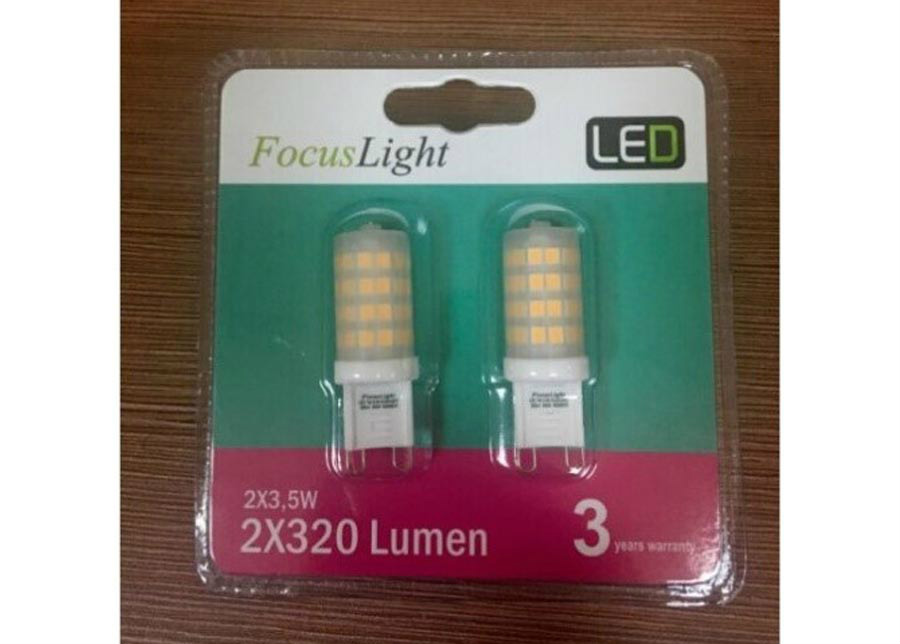 LED lamppu G9 3,5 W 2 kpl