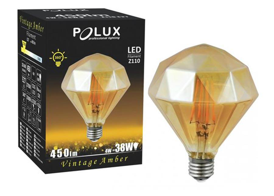 LED A;BER DIAMOND lamppu 4 W