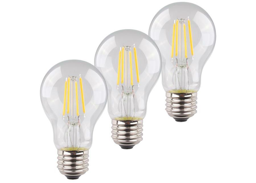 LED lamppu RETRO E27 4 W 3 kpl