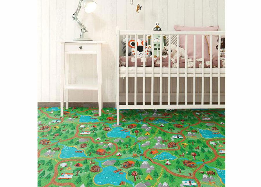 Lastenhuoneen matto METSÄMATKA 100x200 cm