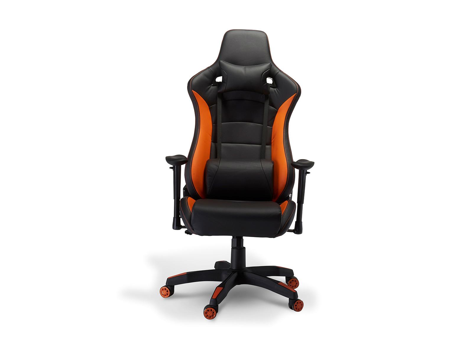 Pelituoli Gaming de Luxe, musta/oranssi