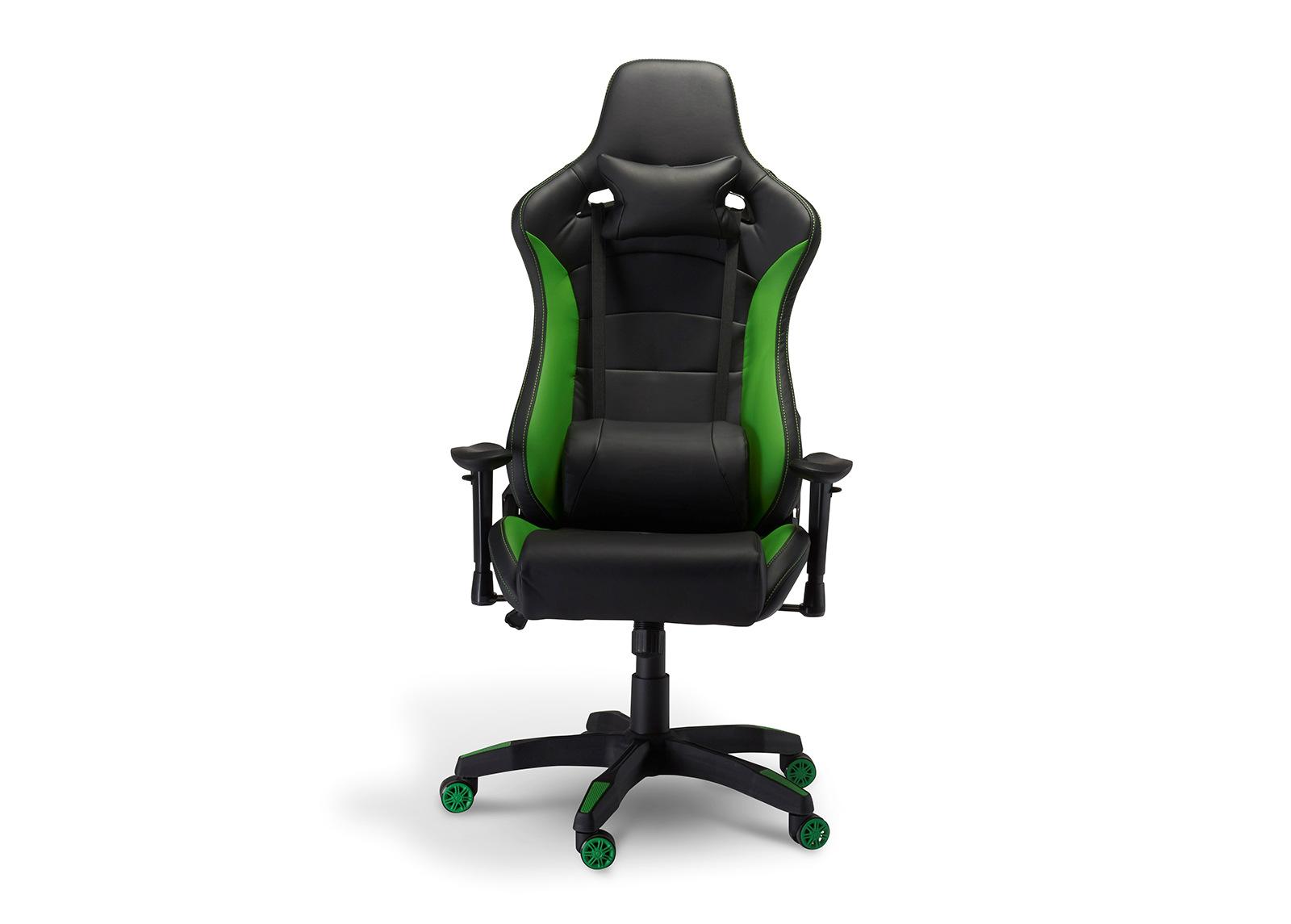 Pelituoli Gaming de Luxe, musta/vihreä