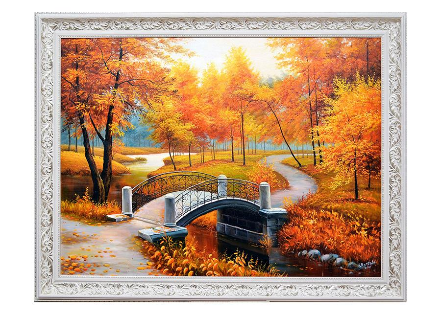 Öljymaalaus KULTAINEN SYKSY 110x140 cm