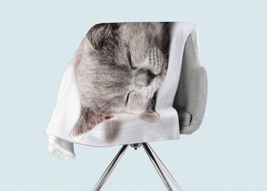 Torkkupeitto Sleeping Cat 130x150 cm