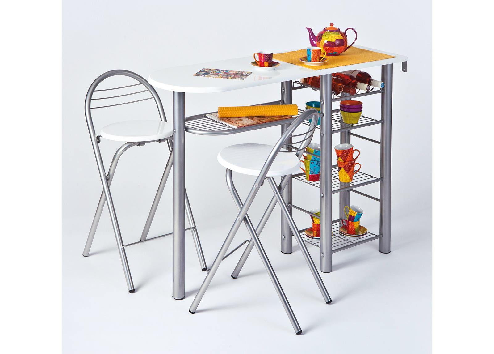Baaripöytä ja 2 tuolia FRIDA