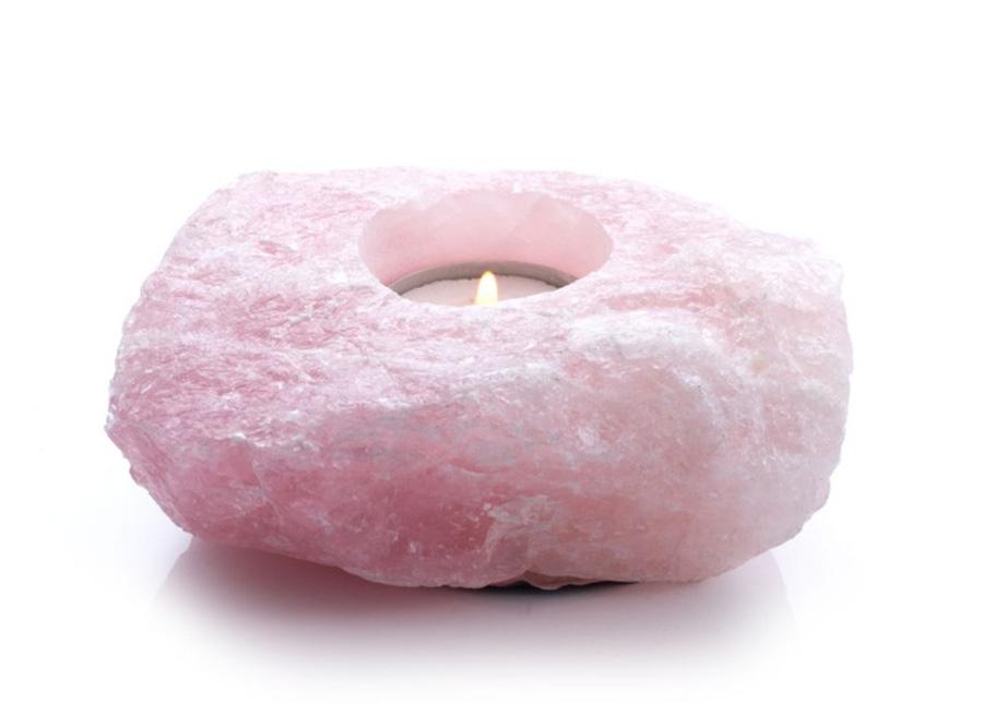 Lämpökynttilän alusta Vaaleanpunainen kvatrsi