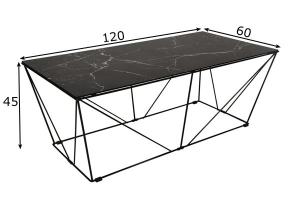 Sohvapöytä Cube 120x60 cm