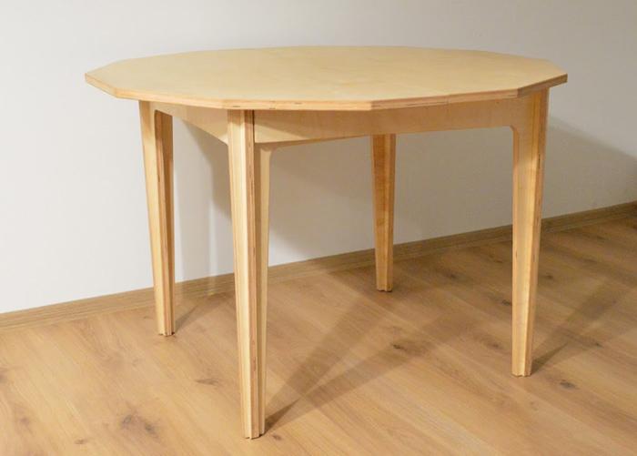 Jatkettava ruokapöytä 114-180x108 cm