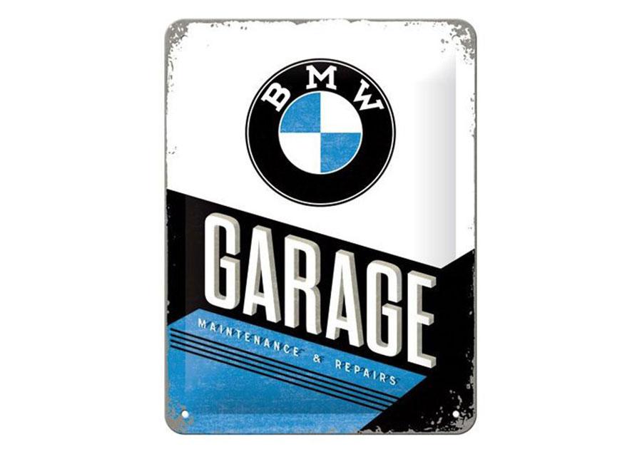 Retro metallijuliste BMW Garage 15x20 cm