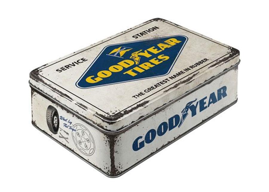 Peltipurkki 3D Goodyear logo