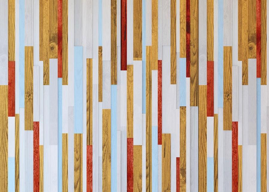 Fleece kuvatapetti Colored Boards 360x270 cm