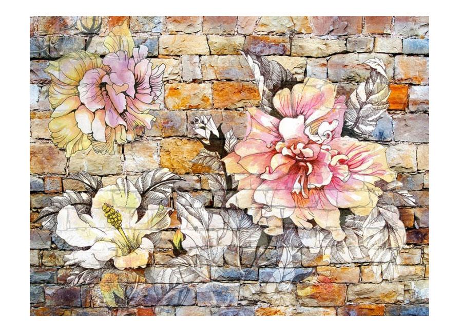 Fleece kuvatapetti Flowers 4, 360x270 cm