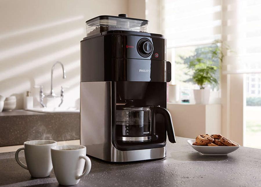 Kahvinkeitin Philips kahvimyllyllä