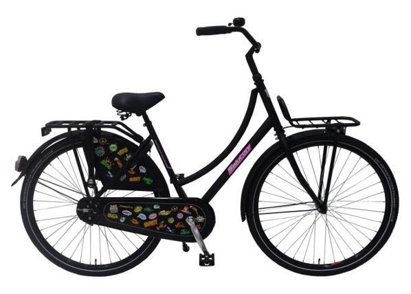 """Naisten kaupunkipyörä SALUTONI Badges 28"""" 56 cm"""