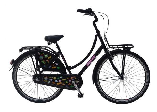 Naisten kaupunkipolkupyörä SALUTONI Badges 28 tuumaa 56 cm Shimano Nexus 3 vaihdetta