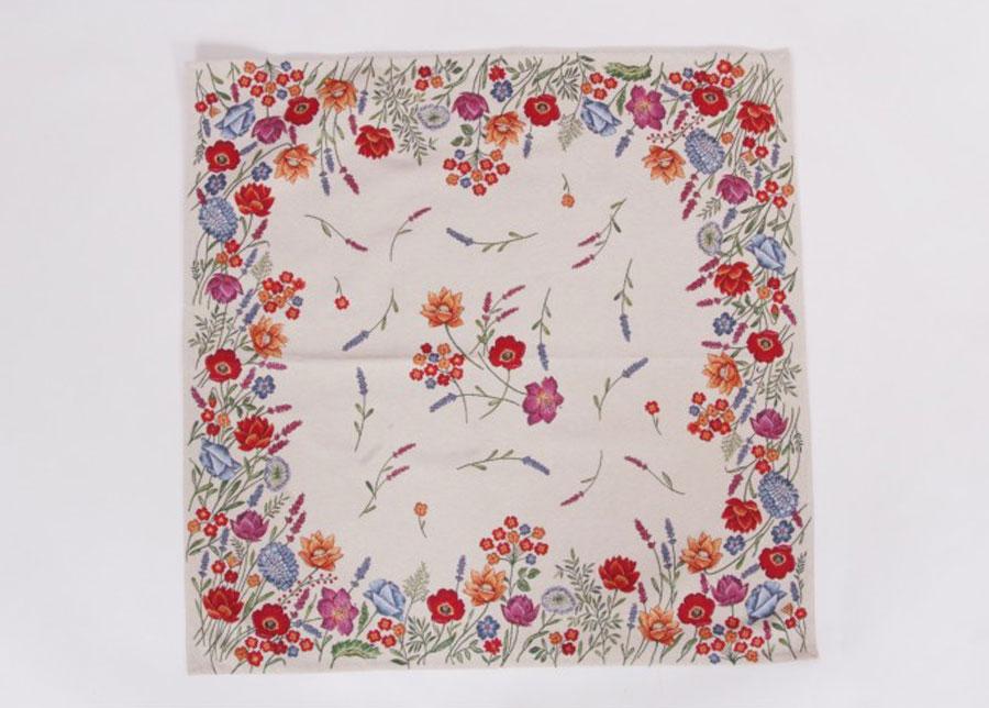 Gobeliinikankainen pöytäliina Poppy 100x100 cm