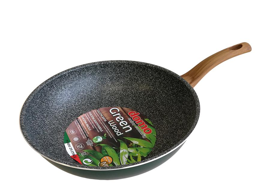 Wok-pannu Green Wood Ø 28 cm