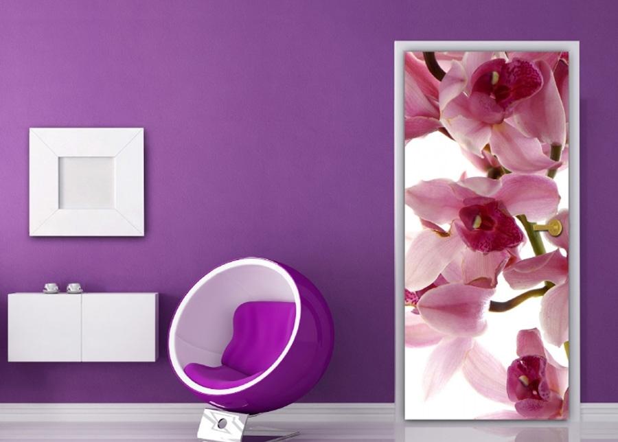 Fleece kuvatapetti Orchids 90x202 cm