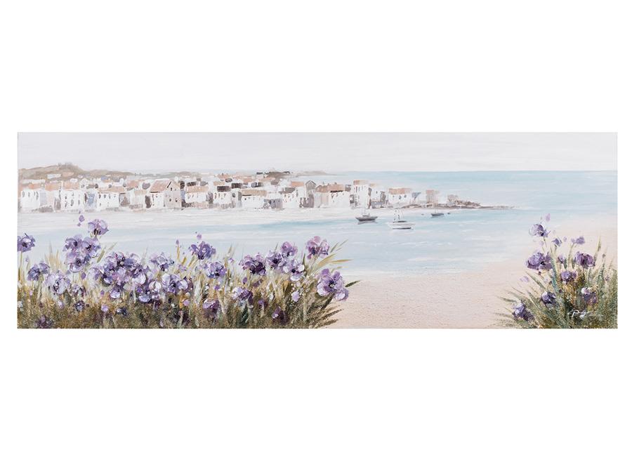 Öljymaalaus Ranta/liilat kuvat 50x150 cm