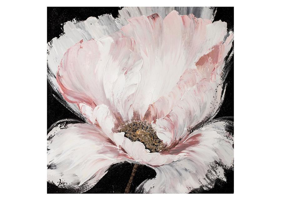 Öljymaalaus Valkoinen kukka 100x100 cm