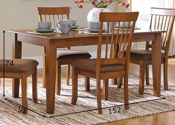 Ruokapöytä 91x152 cm