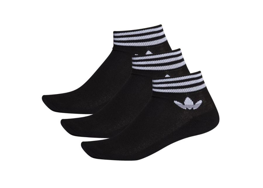 Miesten sukat adidas Originals Trefoil Ankle Socks 3 paria M E1151