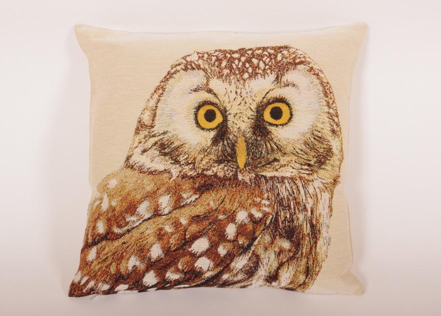 Gobeliinikankainen koristetyyny Owl 45x45 cm