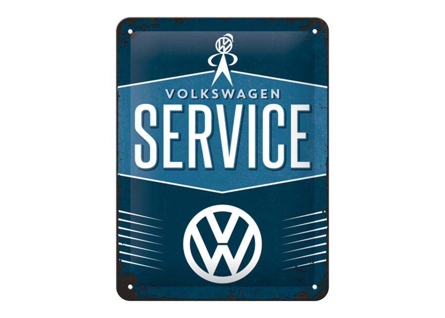 Retro metallijuliste VW Service 15x20 cm