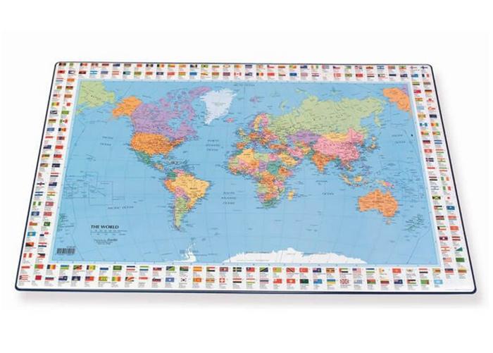 Pöytätabletti maailmankartta 44x63 cm