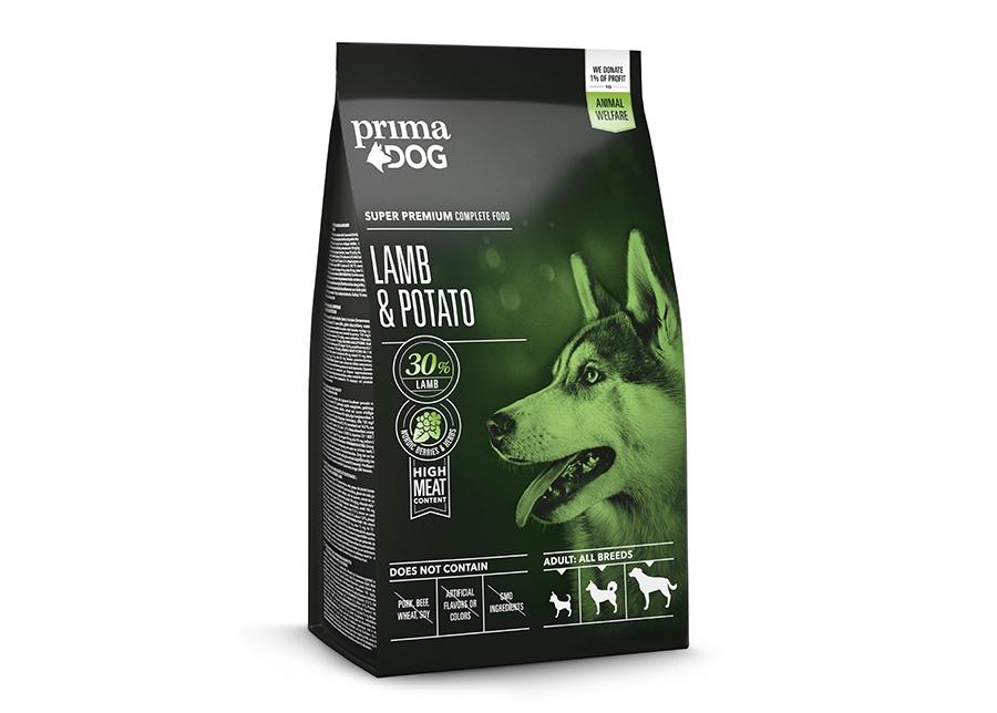 PrimaDog koiranruoka aikuisille koirille lammas-peruna 2 kg
