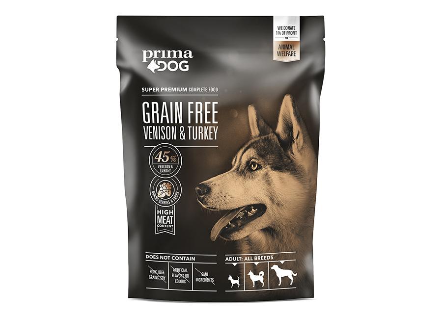 PrimaDog kuivaruoka GrainFree peura-kalkkuna 1,5 kg