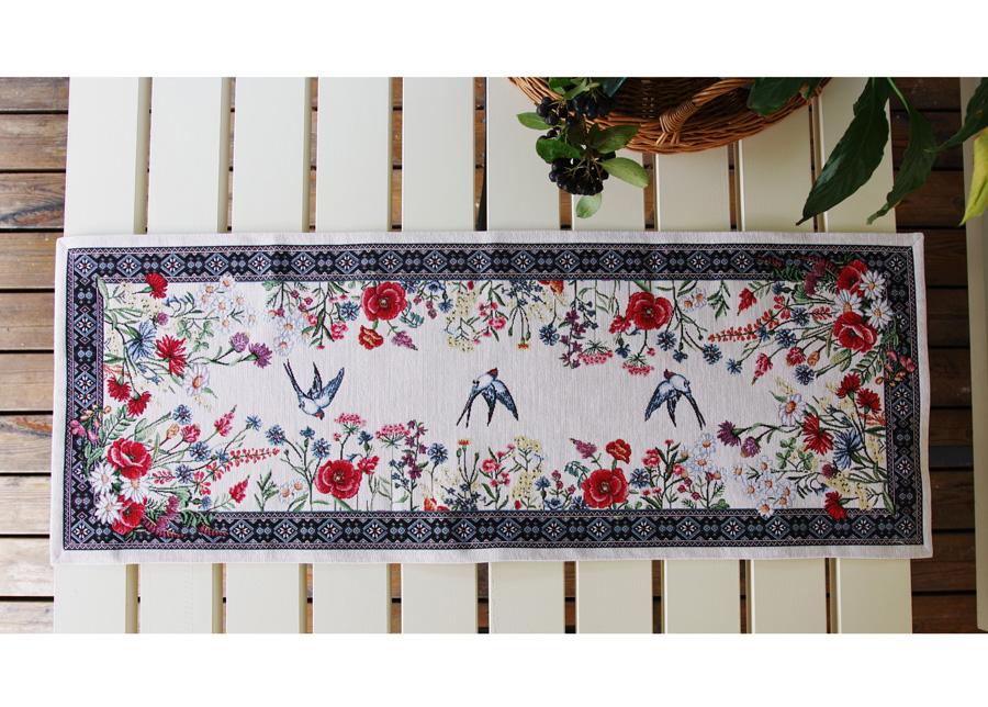 Gobeliinikankainen pöytäliina Chamomille 36x100 cm