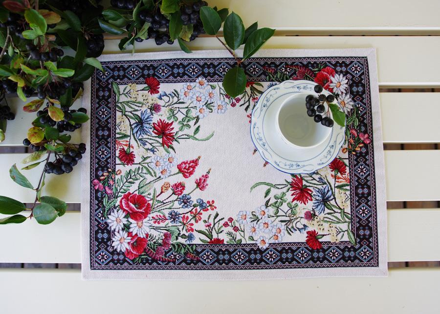 Gobeliinikankainen pöytäliina/pöytätabletti Chamomille 35x48 cm