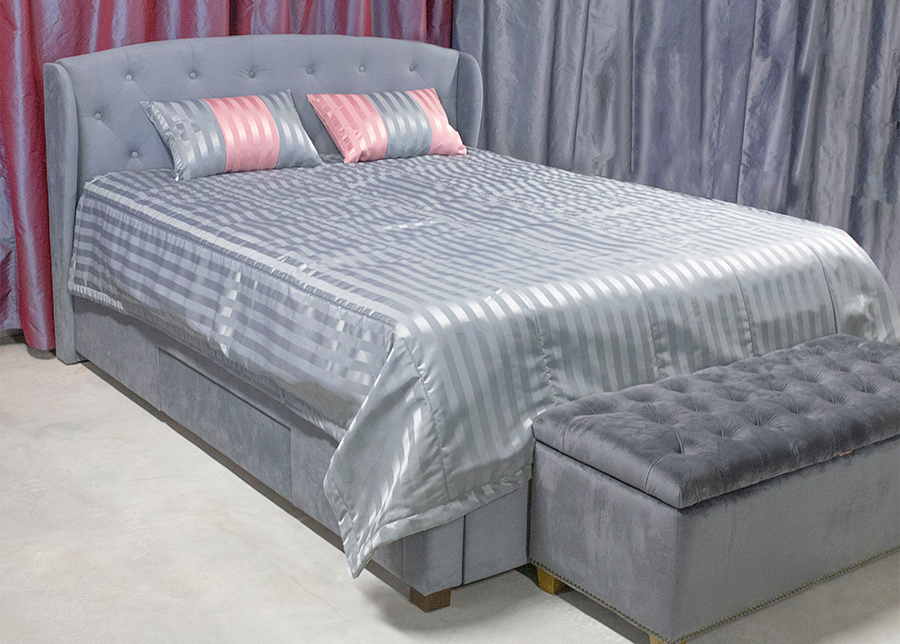 Päiväpeitto Grey&Rose 240x240 cm