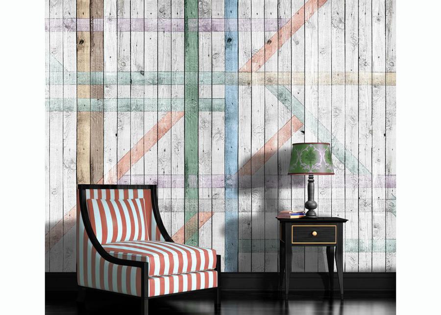 Kuvatapetti Painted Wood Planks Rustic 416x254 cm