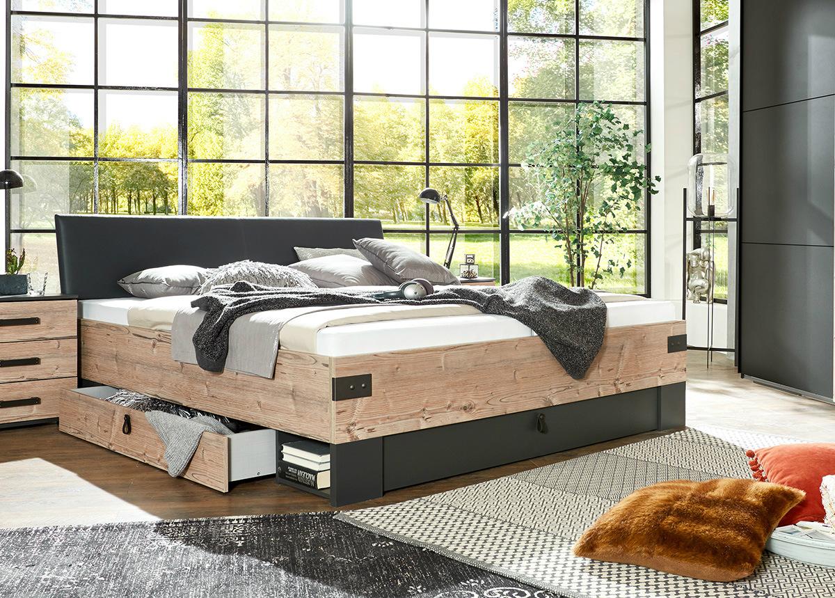 Sänky vuodevaatelaatikolla Stockholm 160x200 cm