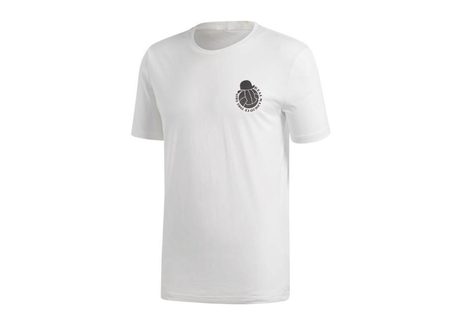 Miesten jalkapallopaita Adidas Real Madrid Graphic Tee t-shirt M CW8702