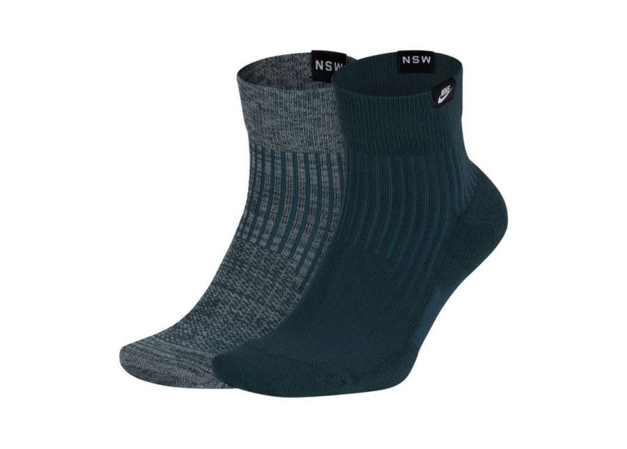 Miesten urheilusukat Nike NSW Sportswear Sneaker Quarter SX7170-929