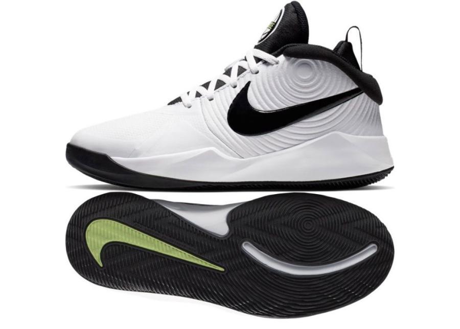 Lasten koripallokengät Nike team Hustle D 9 (GS) Jr AQ4224-100