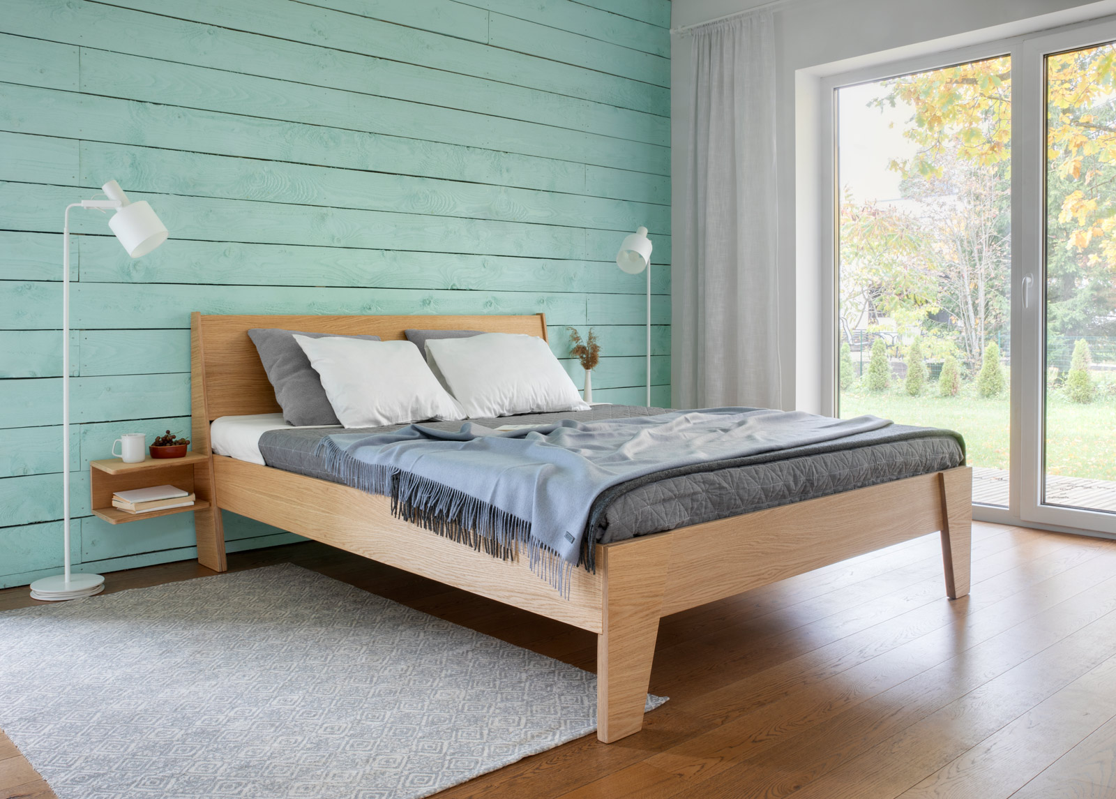 Radis sänky Huh 160x200 cm + 2 yöpöytää