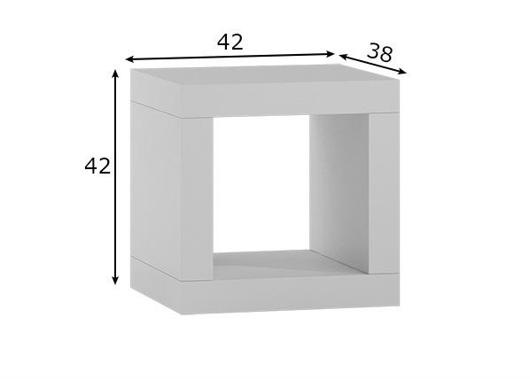 Hylly / yöpöytä 42x42 cm
