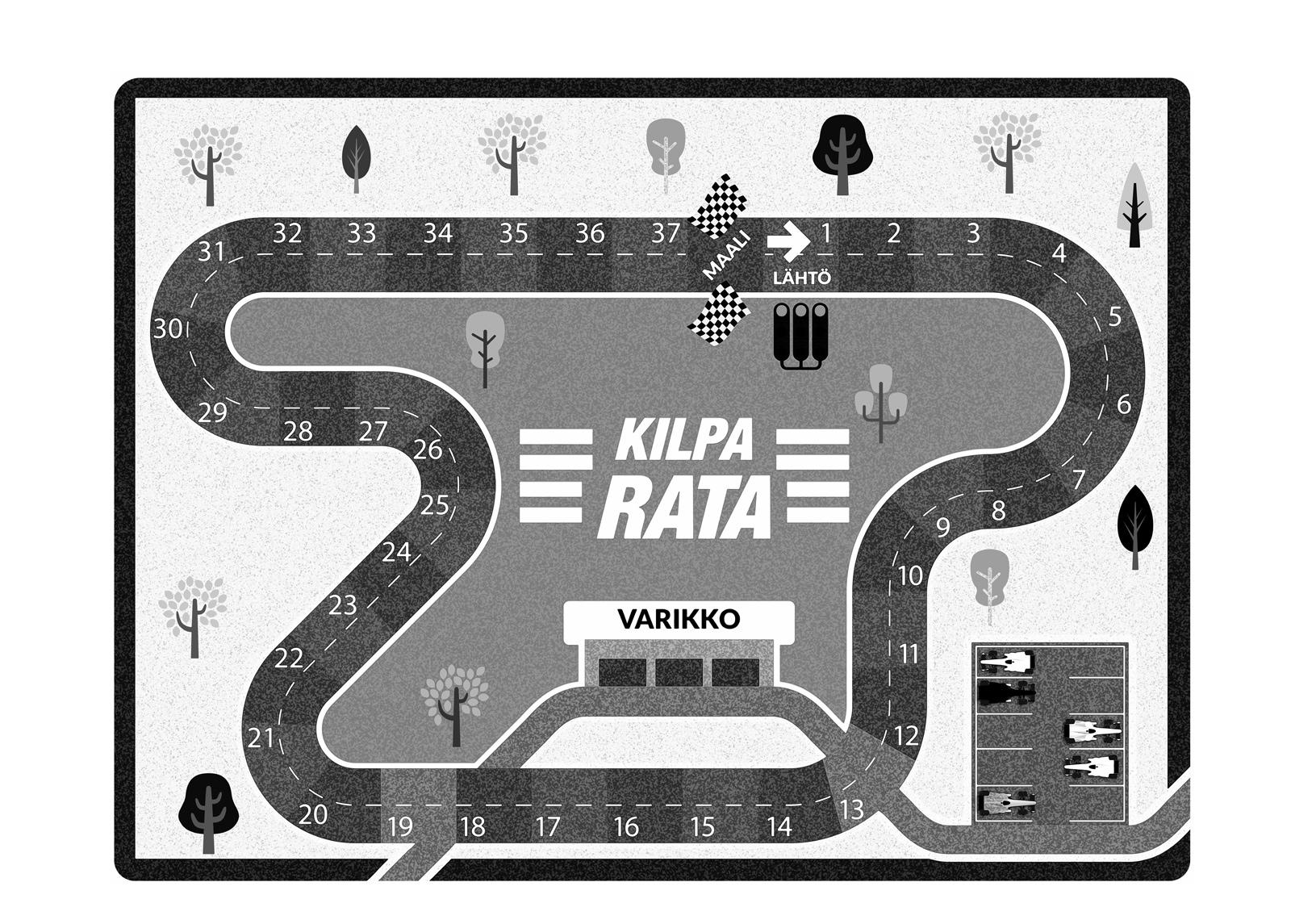 Village's lasten matto Formula 100x150 cm