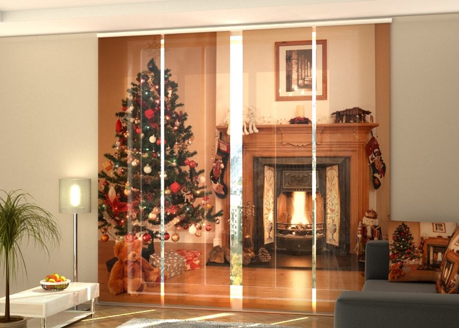 Puolipimentävä paneeliverho Fireplace 240x240 cm