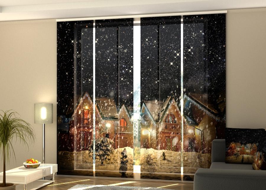 Pimentävä paneeliverho Snowy Night 240x240 cm