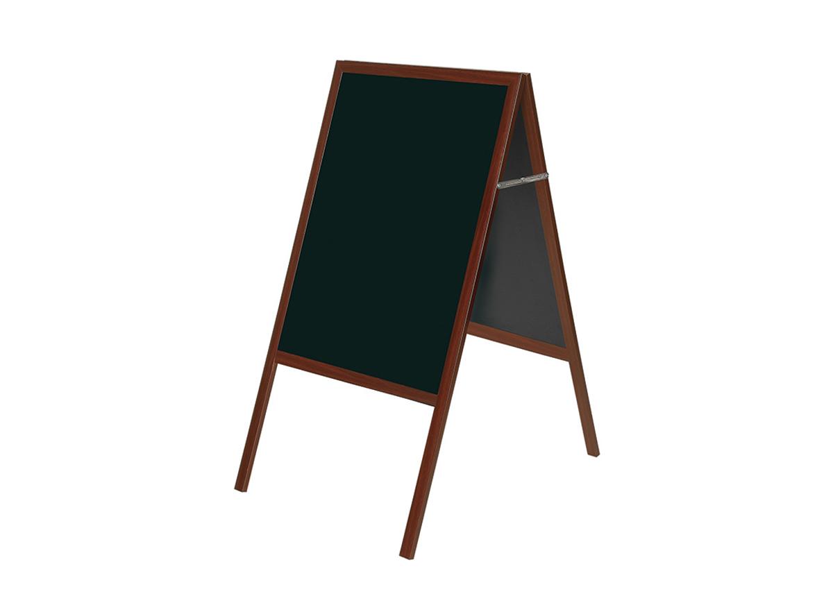 Liitutaulu Bi-office (a-teline, kirsikanpunainen puurunko, musta taulu) 90x120 cm