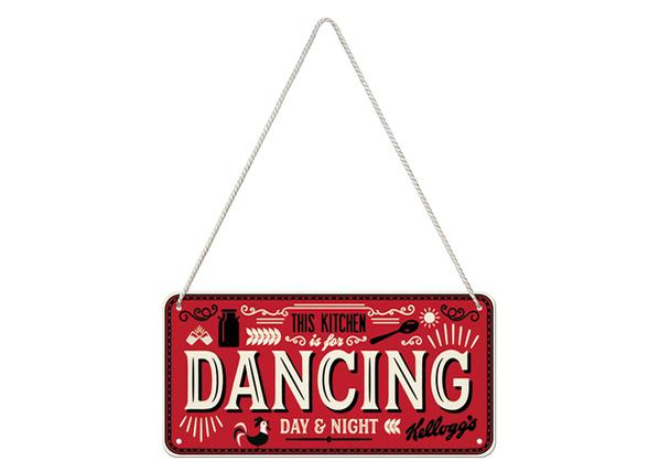Retro metallijuliste Kellogg's - This Kitchen is for Dancing 10x20 cm