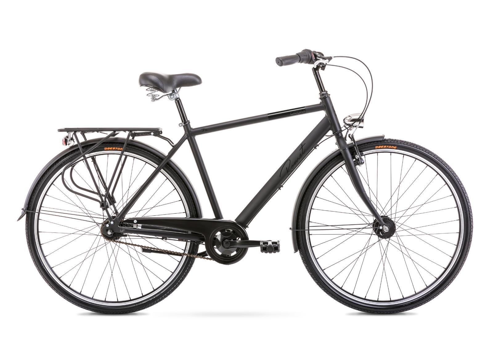 Miesten kaupunkipyörä 20 L GROM 7S musta