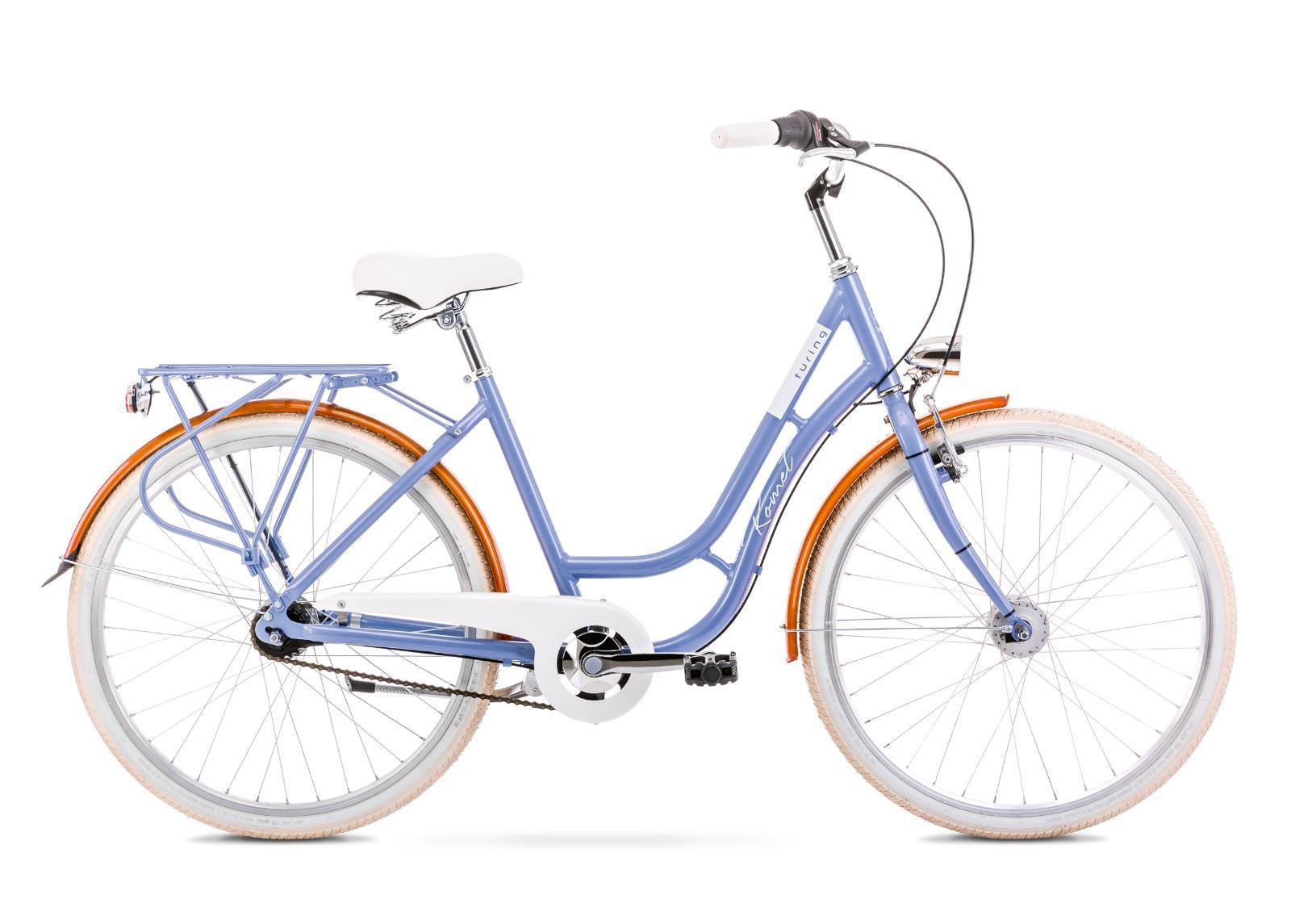 Naisten kaupunkipyörä 18 M TURING 7S vaaleansininen